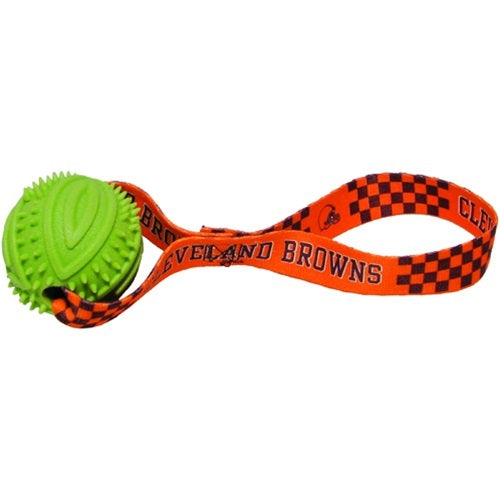 Cleveland Browns Rubber Ball Toss Pet Dog Toy by Hunter