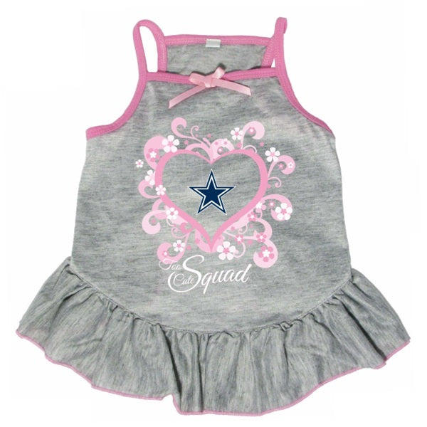 "Dallas Cowboys ""Too Cute Squad"" Pet Dog Dress by Hunter"