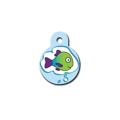 Fish Dream Small Circle Pet Dog ID Tag by Hillman Group