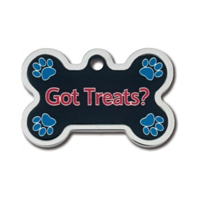 Got Treats? Large Bone Raised Edge Pet Dog ID Tag by Hillman Group