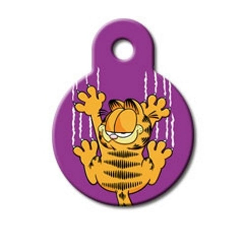 Garfield Scratches Small Circle Pet Dog ID Tag by Hillman Group