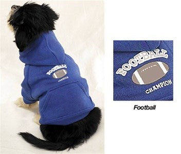 Hooded Football Pet Dog Sweatshirt by Pet Edge