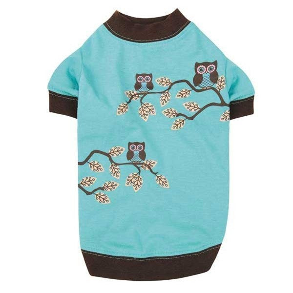 Hoot And Howl Owl Pet Dog Tee by Pet Edge