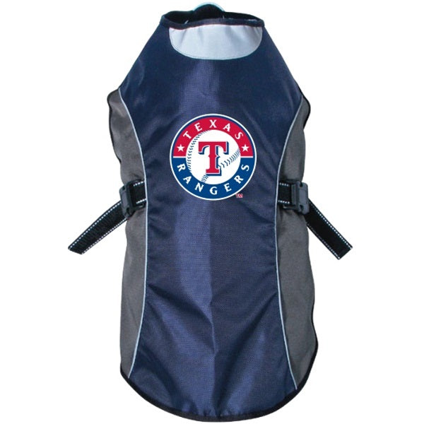 Texas Rangers Water Resistant Reflective Pet Dog Jacket by Hunter