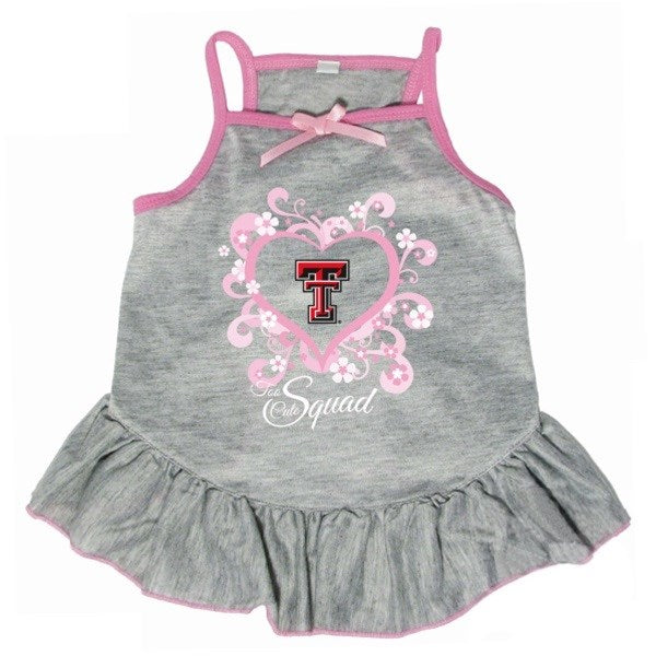 "Texas Tech Red Raiders Red Raiders ""Too Cute Squad"" Pet Dog Dress by Hunter"