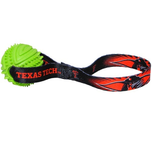Texas Tech Red Raiders Rubber Ball Toss Pet Dog Toy by Hunter