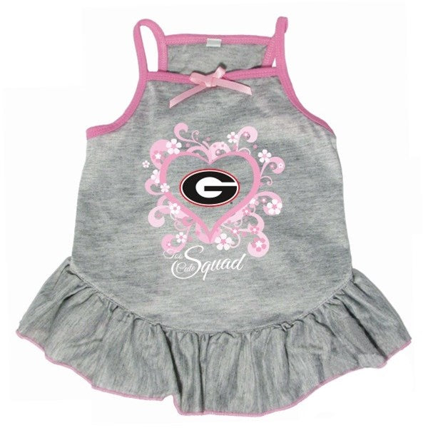 "Georgia Bulldogs ""Too Cute Squad"" Pet Dog Dress by Hunter"