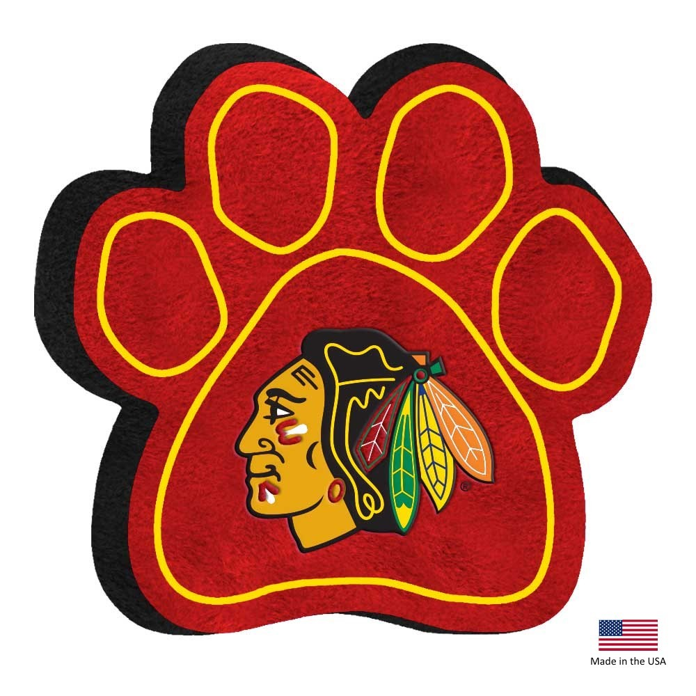 Chicago Blackhawks NHL Paw Squeak Pet Dog Toy by All Star Dogs