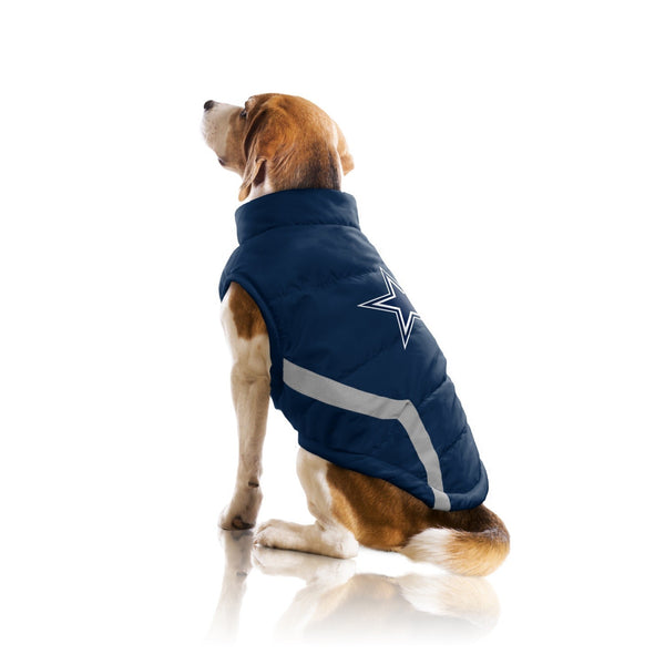 Dallas Cowboys Pet Dog Puffer Vest By Little Earth Furry