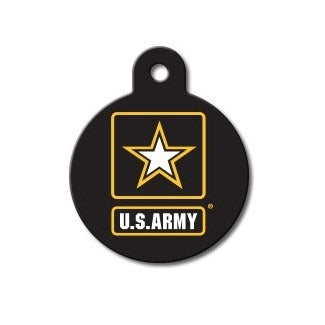 US Army Large Circle Pet Dog ID Tag by Hillman Group