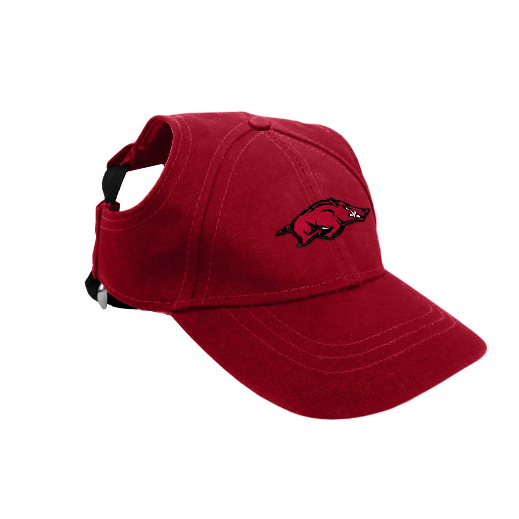 Arkansas Razorbacks Pet Dog Baseball Hat by Little Earth
