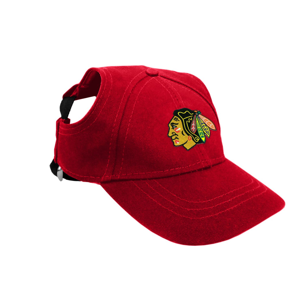 Chicago Blackhawks Pet Dog Baseball Hat by Little Earth