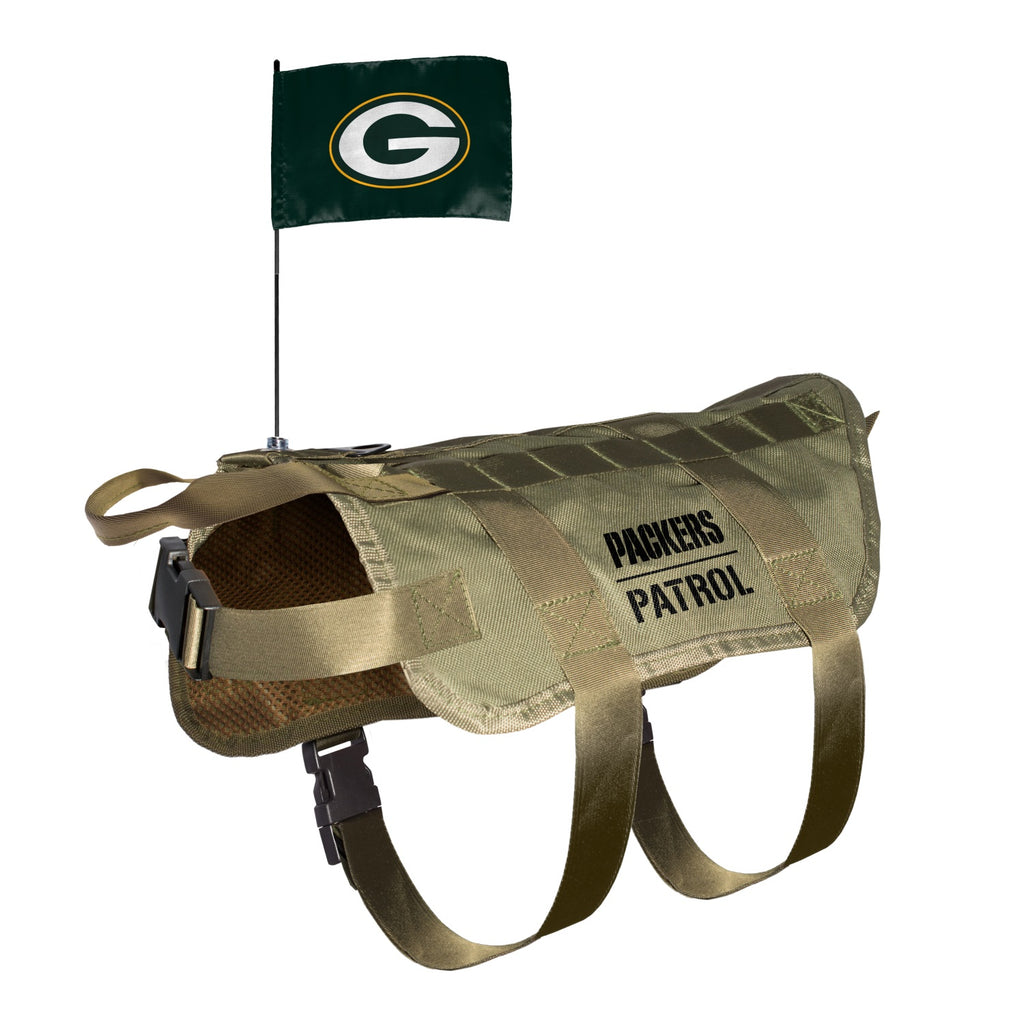 Green Bay Packers Pet Dog Tactical Vest by Little Earth