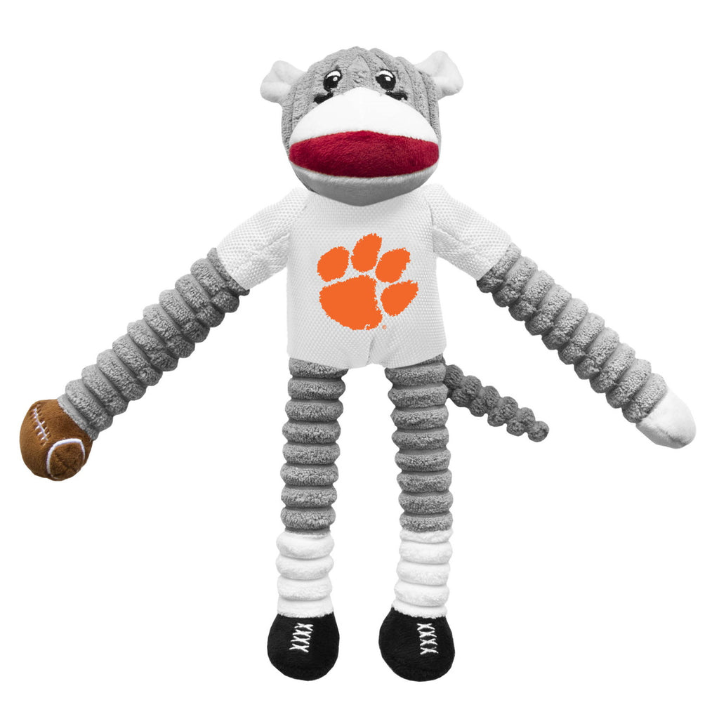 Clemson Tigers Sock Monkey Pet Dog Toy by Little Earth