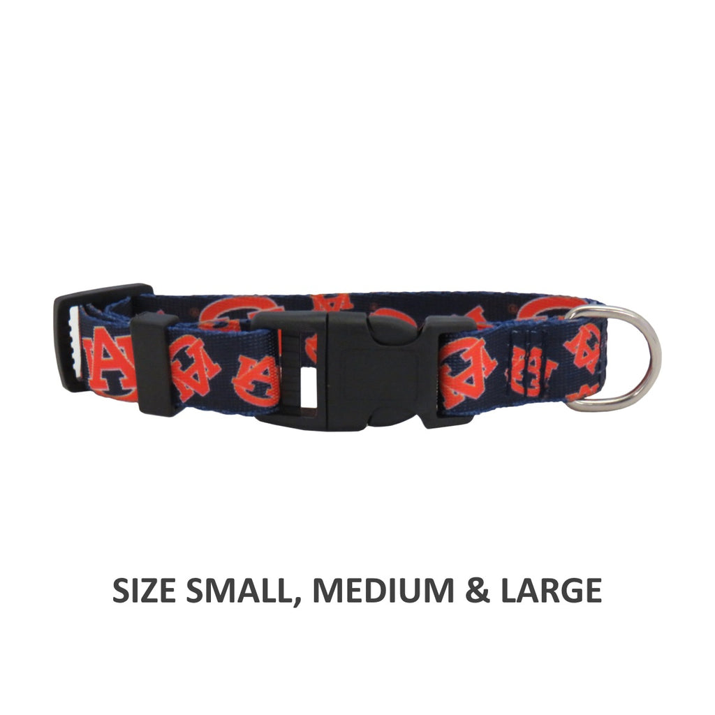 Auburn Tigers Pet Dog Nylon Collar by Little Earth