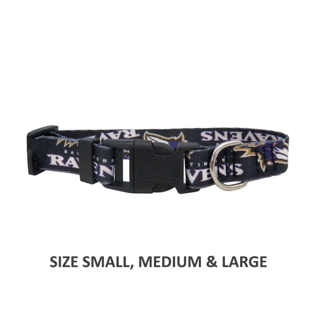 Baltimore Ravens Pet Dog Nylon Collar by Little Earth