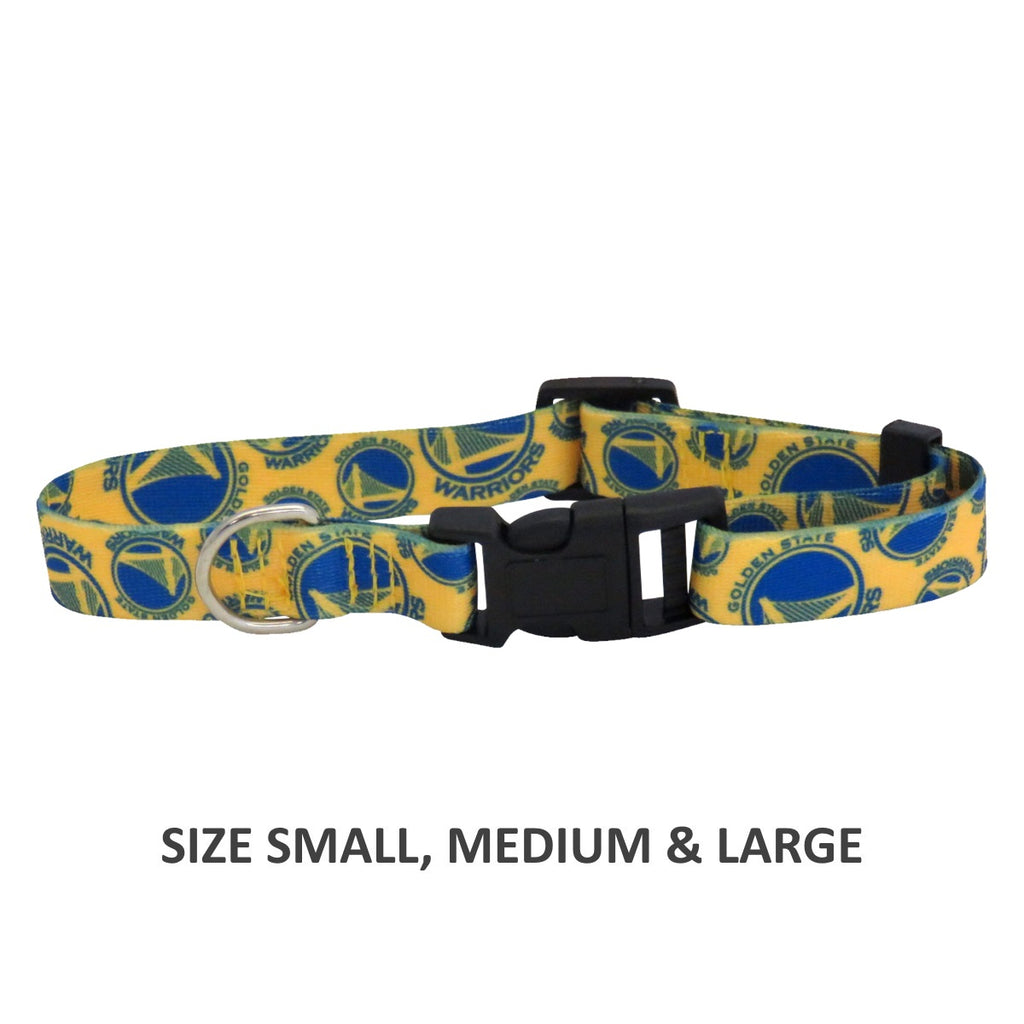 Golden State Warriors Pet Dog Nylon Collar by Little Earth