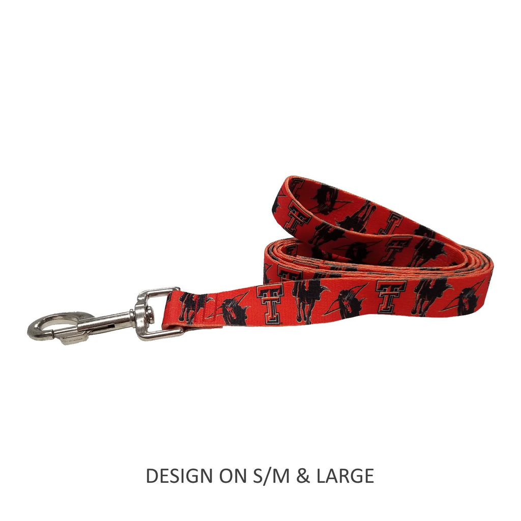 Texas Tech Red Raiders Red Raiders Pet Dog Nylon Leash by Little Earth