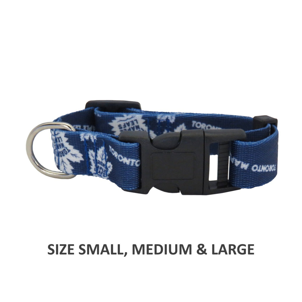 Toronto Maple Leafs Pet Dog Nylon Collar by Little Earth