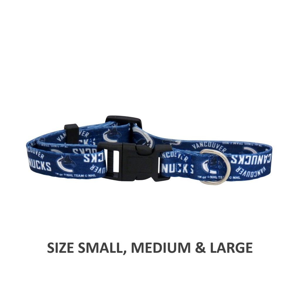 Vancouver Canucks Pet Dog Nylon Collar by Little Earth