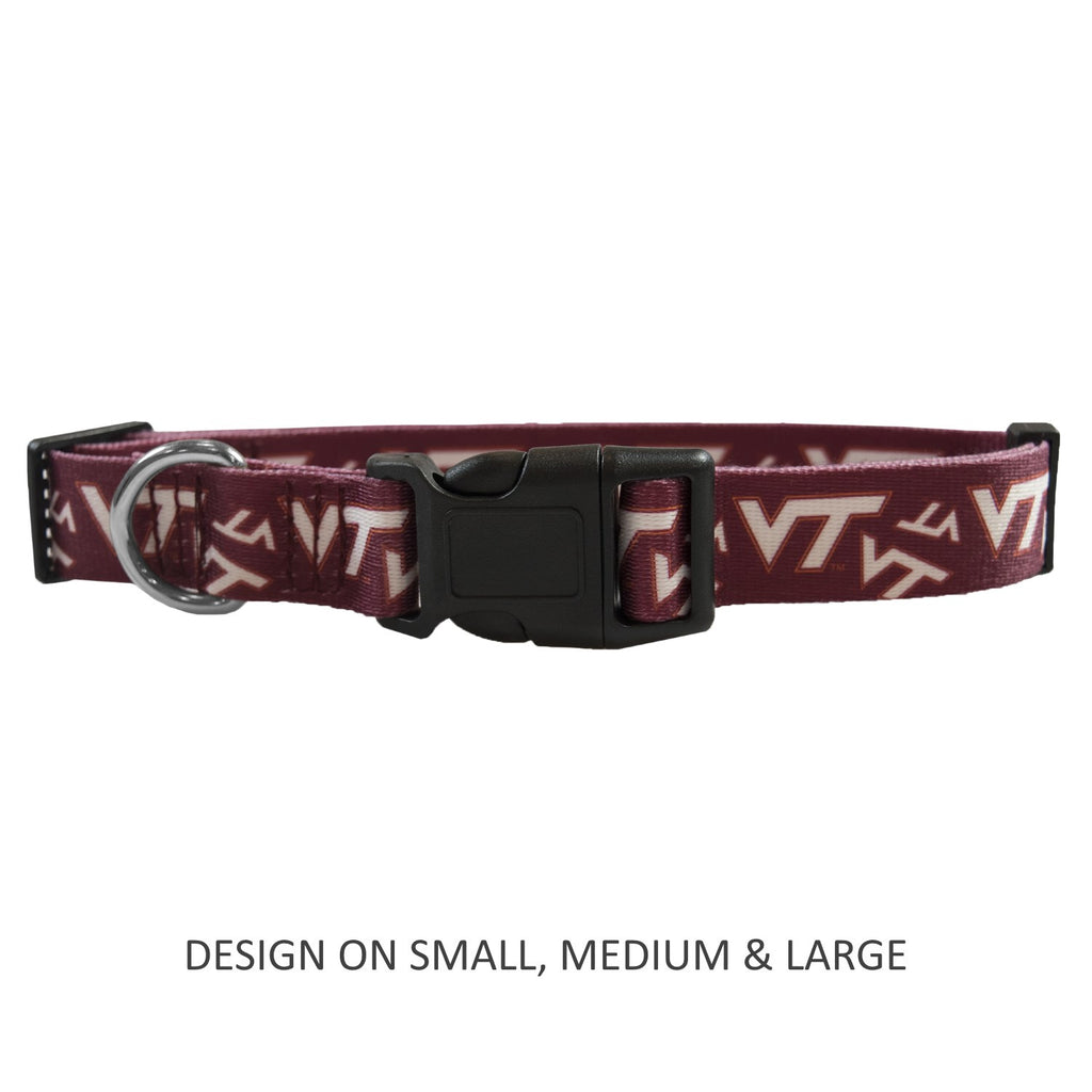 Virginia Tech Hokies Hokies Pet Dog Nylon Collar by Little Earth