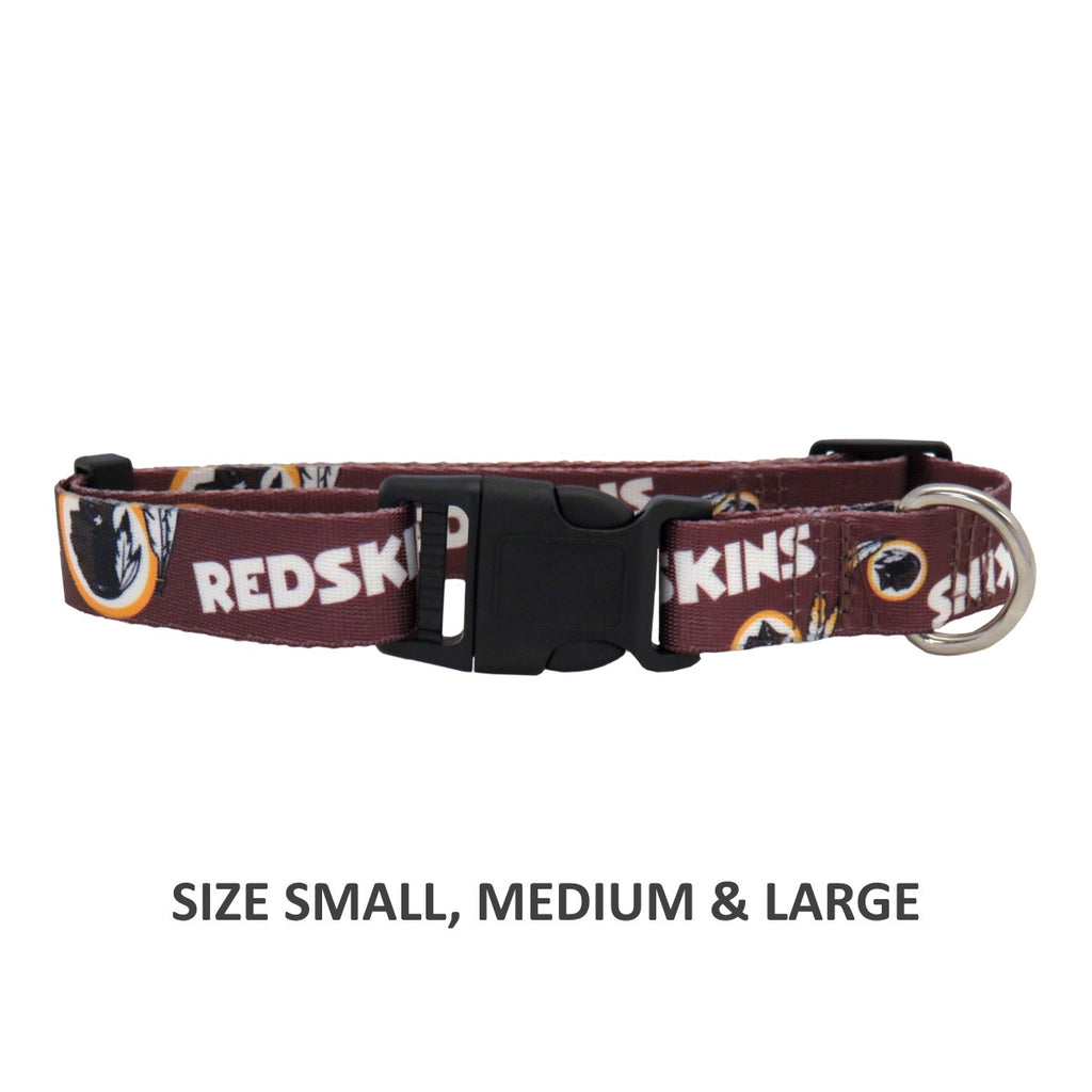 Washington Redskins Pet Dog Nylon Collar by Little Earth