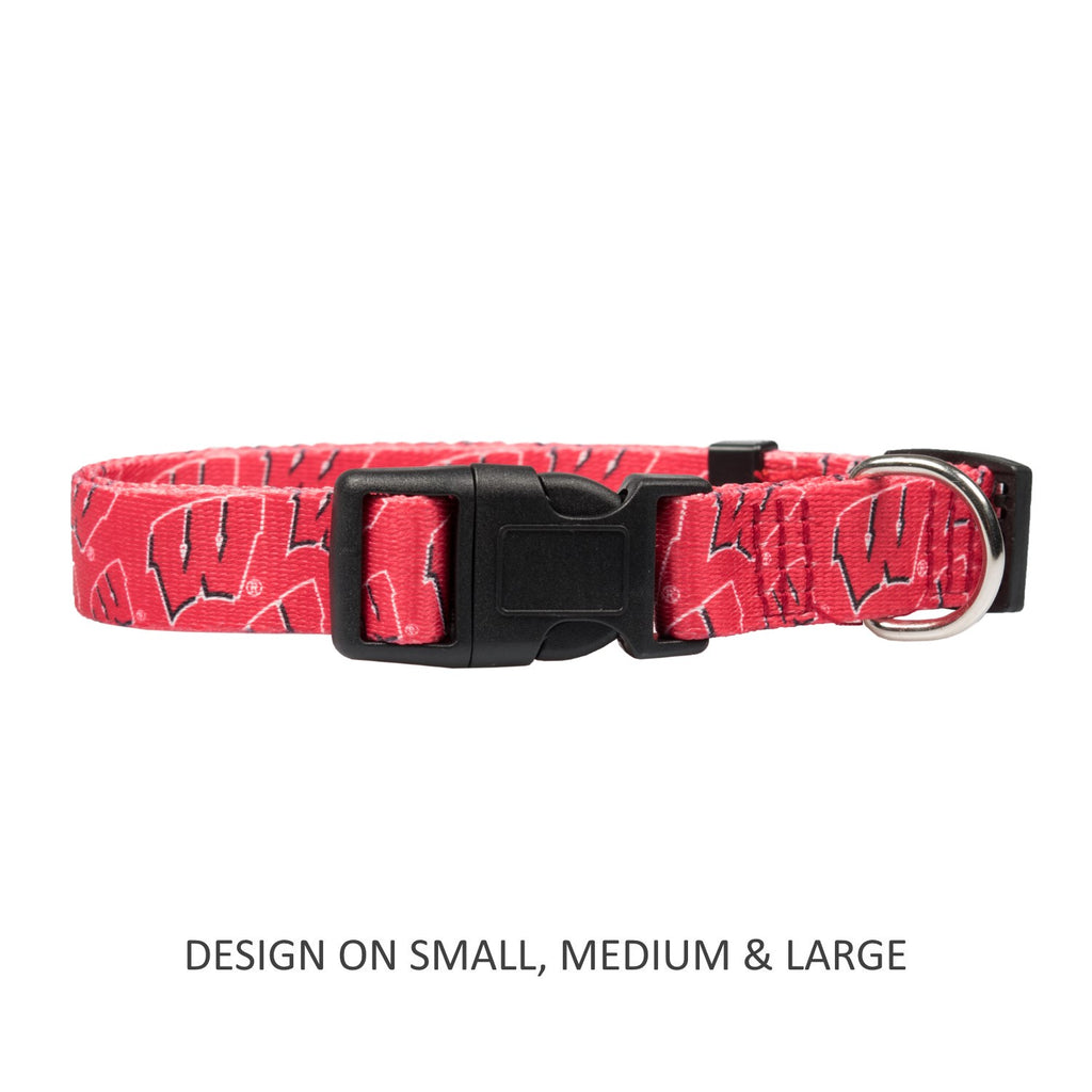 Wisconsin Badgers Pet Dog Nylon Collar by Little Earth