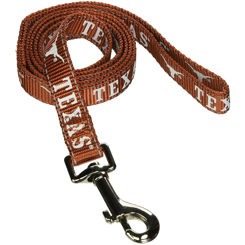 Texas Longhorns Pet Dog Reflective Nylon Leash by Pet Goods Manufacturing