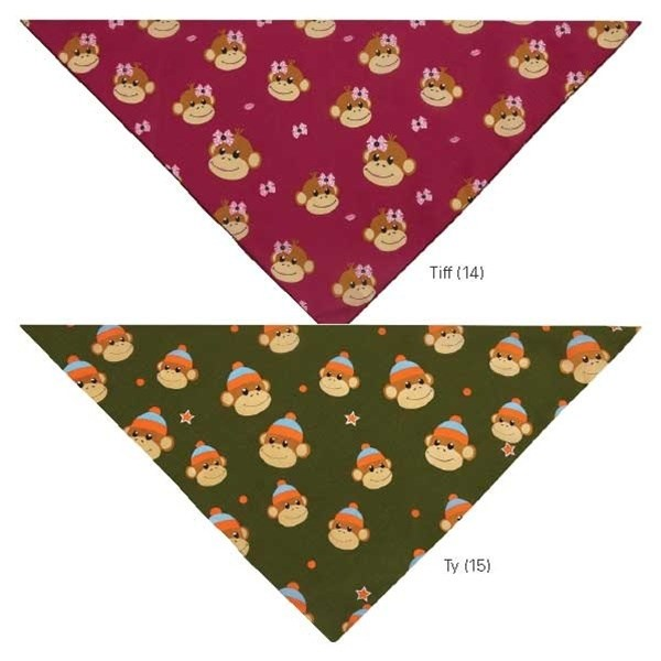 Aria Monkey Business Pet Dog Bandanas by Pet Edge