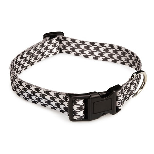 Houndstooth Bat Pet Dog Collar by Pet Edge