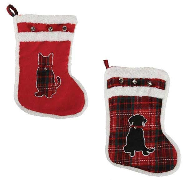 Zanies Yuletide Tartan Stockings Pet Dog by Pet Edge