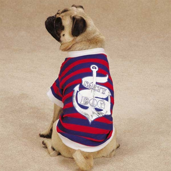 All Paws On Deck Salty Pet Dog Tee by Pet Edge