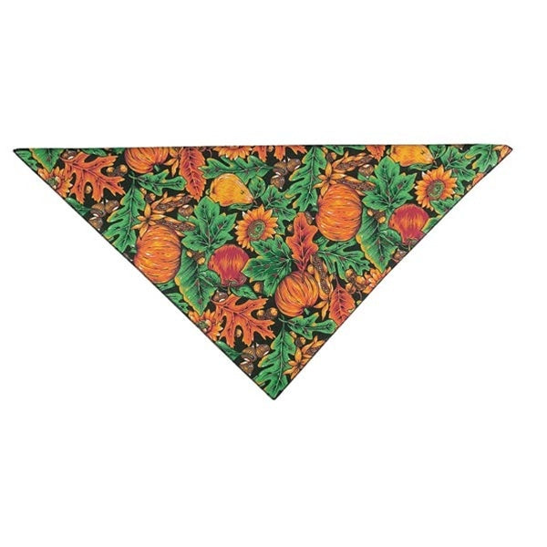Autumn Pumpkins & Acorns Pet Dog Bandana by Pet Edge