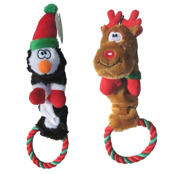 Holiday Bungee Rope Pet Dog Toy by Pets First