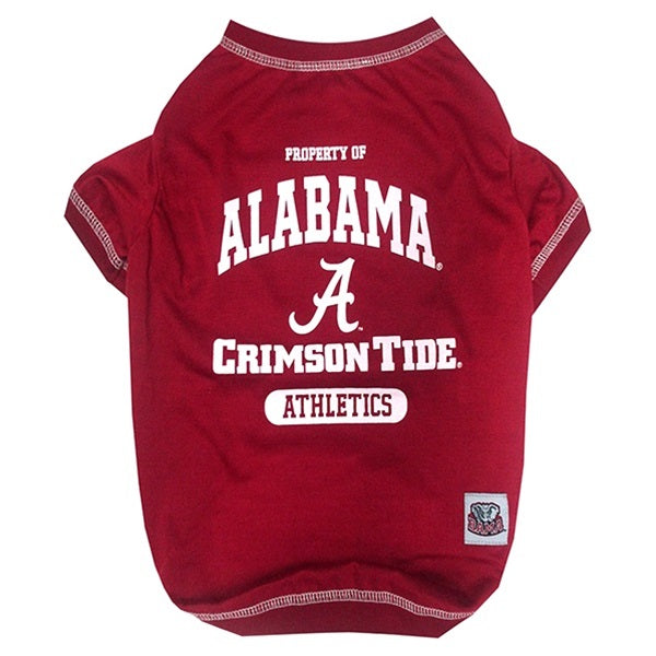 Alabama Crimson Tide Pet Dog Tee Shirt by Pets First