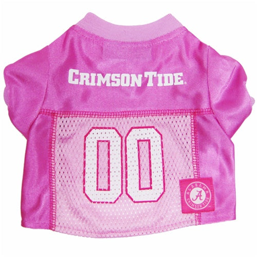 Alabama Crimson Tide Pink Pet Dog Jersey by Pets First