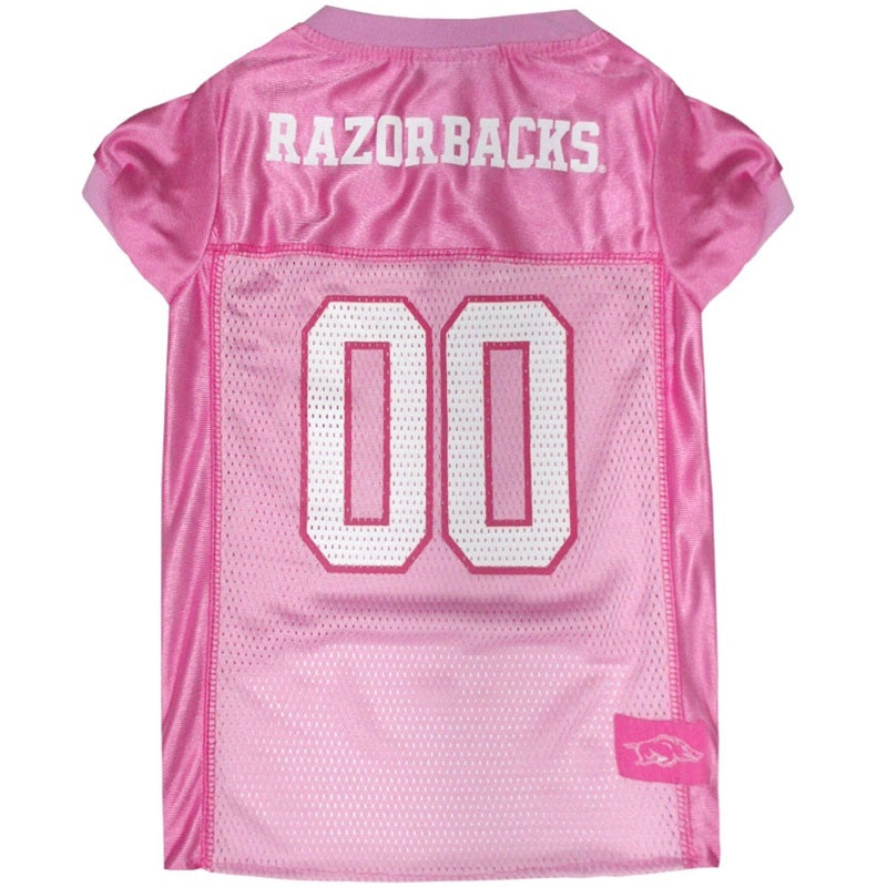Arkansas Razorbacks Pink Pet Dog Jersey by Pets First