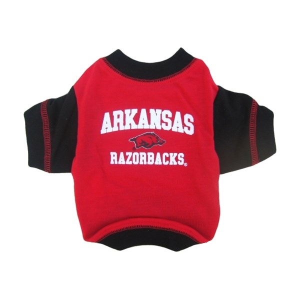 Arkansas Razorbacks Pet Dog T-Shirt by Pets First