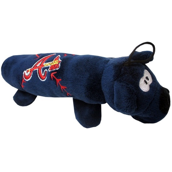 Atlanta Braves Plush Tube Pet Dog Toy by Pets First