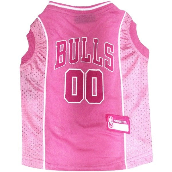 Chicago Bulls Pink Pet Dog Jersey by Pets First