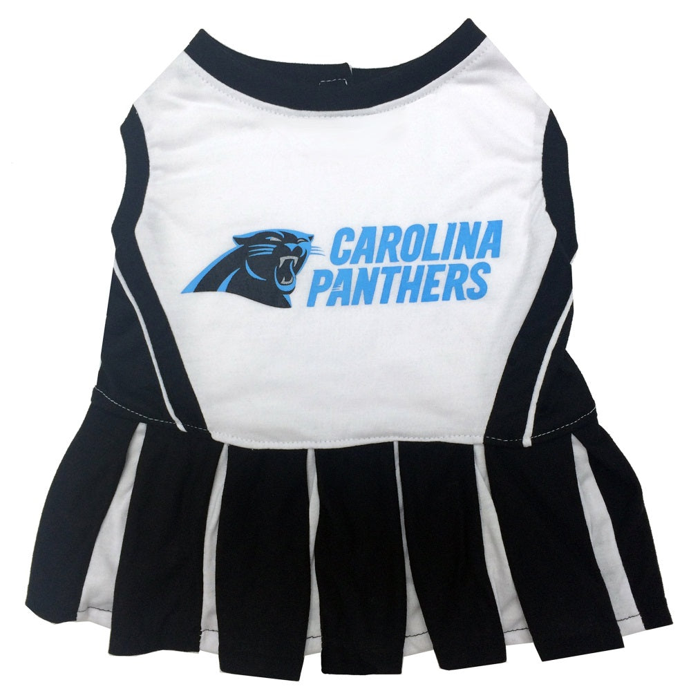 Carolina Panthers Cheerleader Pet Dog Dress by Pets First