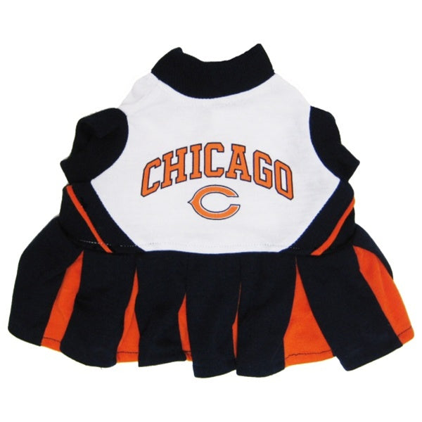 Chicago Bears Cheerleader Pet Dog Dress by Pets First