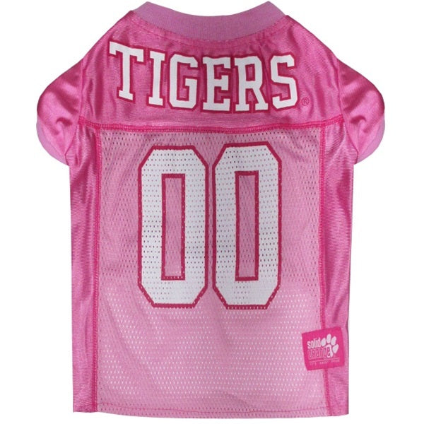 Clemson Tigers Pink Pet Dog Jersey by Pets First