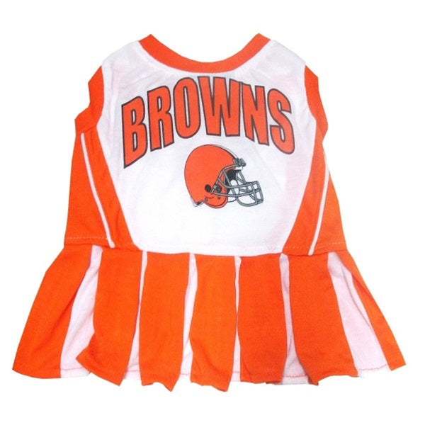 Cleveland Browns Cheerleader Pet Dog Dress by Pets First
