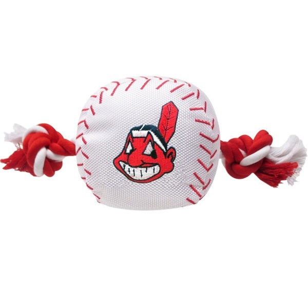 Cleveland Indians Nylon Baseball Rope Tug Pet Dog Toy by Pets First