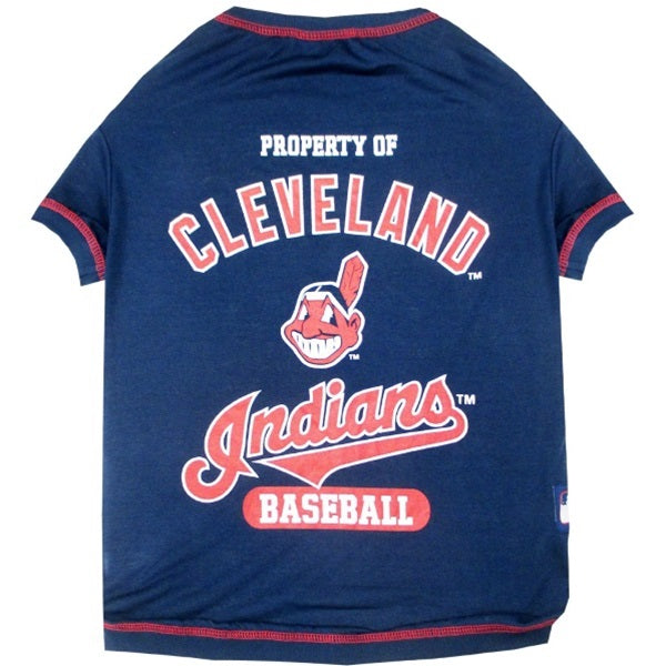 Cleveland Indians Pet Dog T-Shirt by Pets First