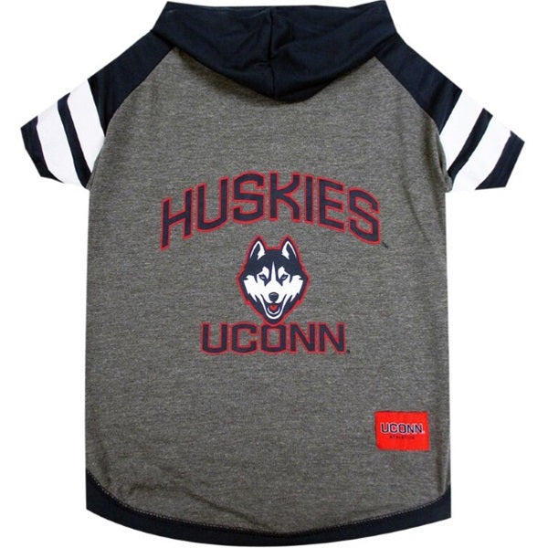 UConn Huskies Pet Dog Hoodie T-Shirt by Pets First