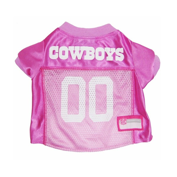 Dallas Cowboys Pink Pet Dog Jersey by Pets First