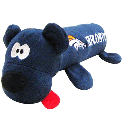 Denver Broncos Plush Tube Pet Dog Toy by Pets First