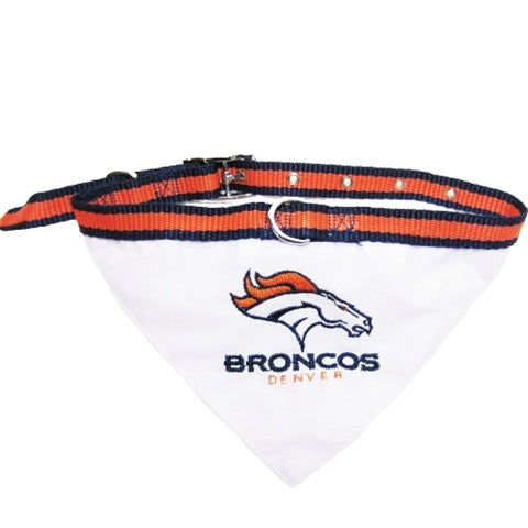 Denver Broncos Pet Dog Collar Bandana by Pets First